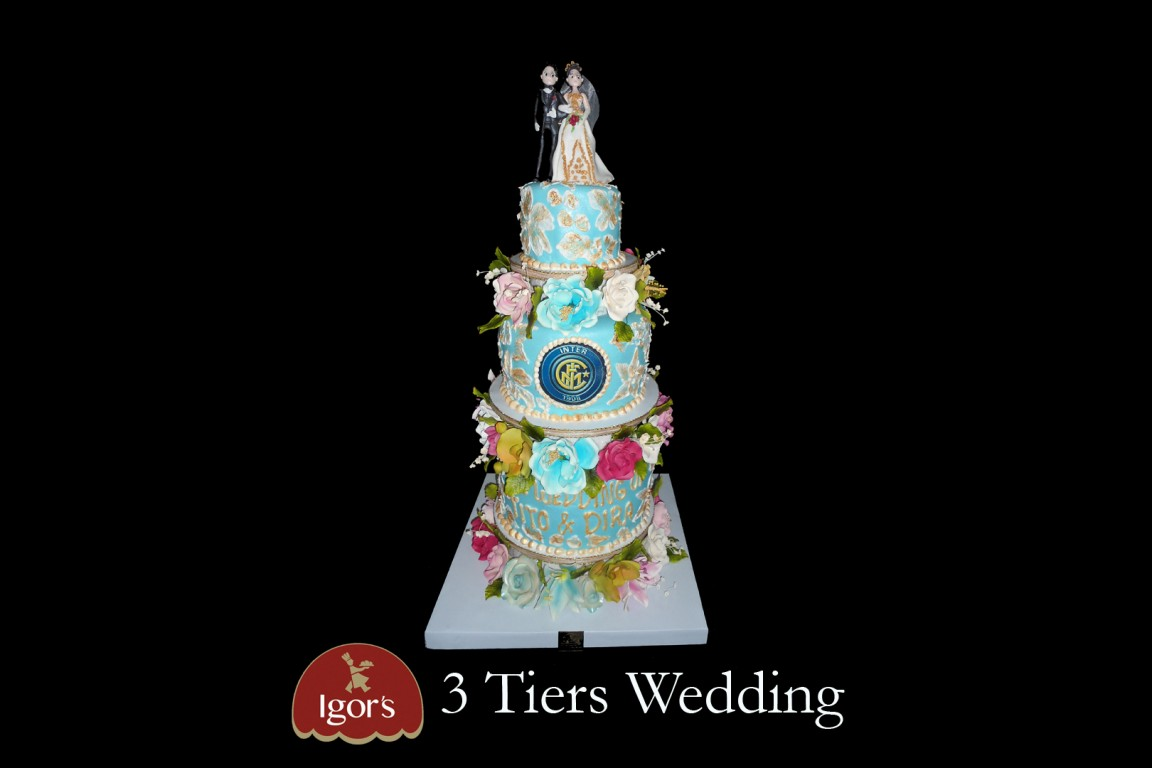 3 Tiers Wedding - Igor's Pastry products