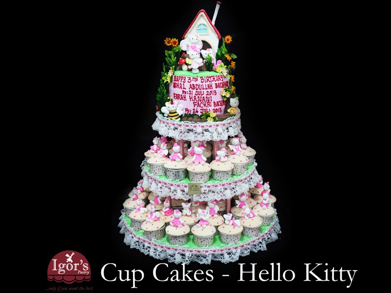 Cup Cakes - Hello Kitty - Igor's Pastry products