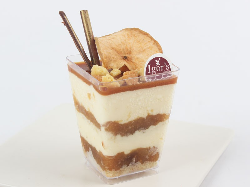 Apple Butter Scoth In Cup - Igor's Pastry products