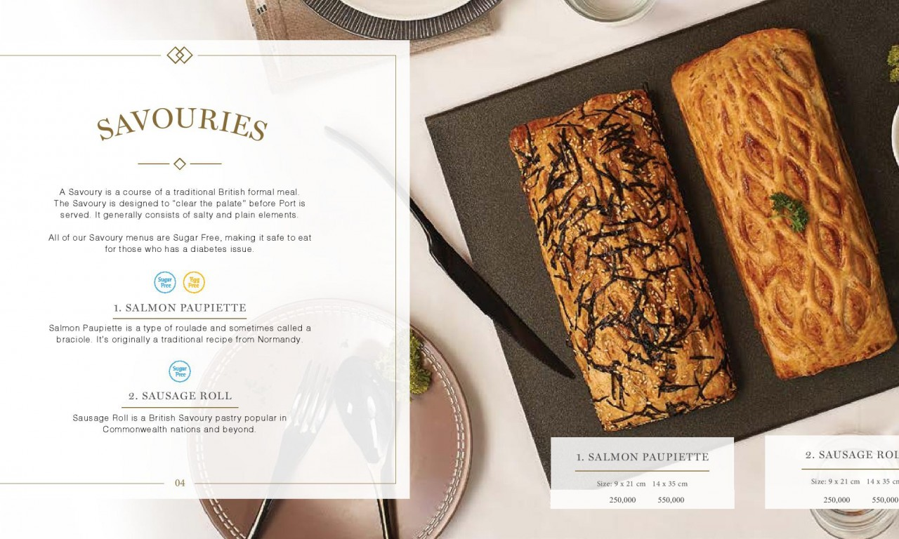 SAVOURIES  - Igor's Pastry products